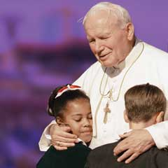 John Paul ii and children