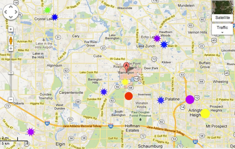 barrington map a